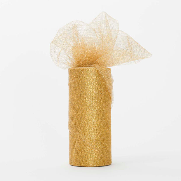 Gold Glitter Tulle Fabric Roll Wedding Party Material
