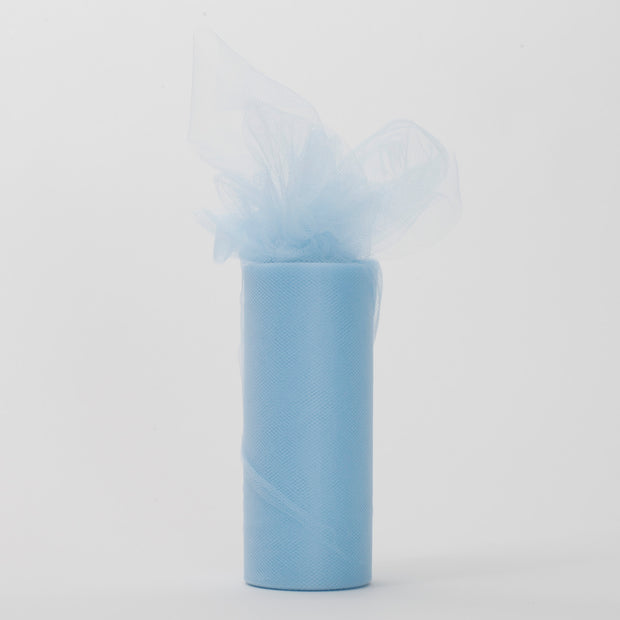 Light Blue Tulle Fabric Bolt Roll Wedding Party Material