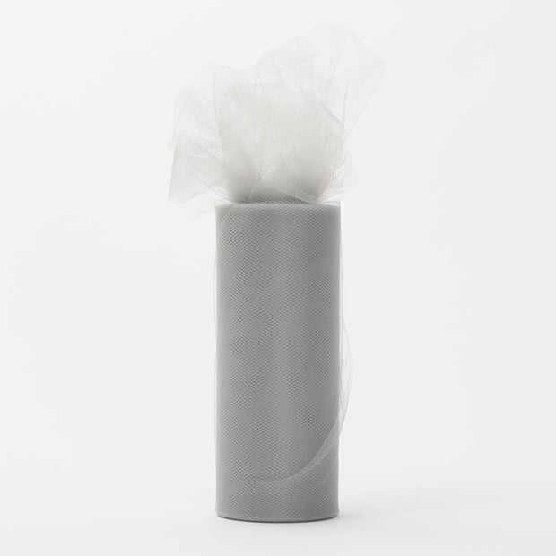 Silver Tulle Fabric Bolt Roll Wedding Party Material
