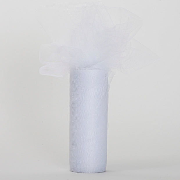 White Tulle Fabric Bolt Roll Wedding Party Material