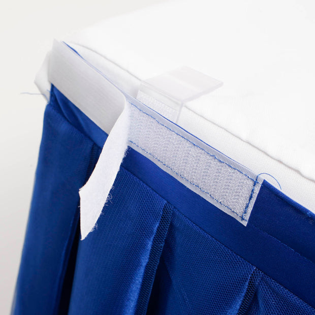 Tulle and Ice Silk Layered Table Skirting - Royal Blue (3m)