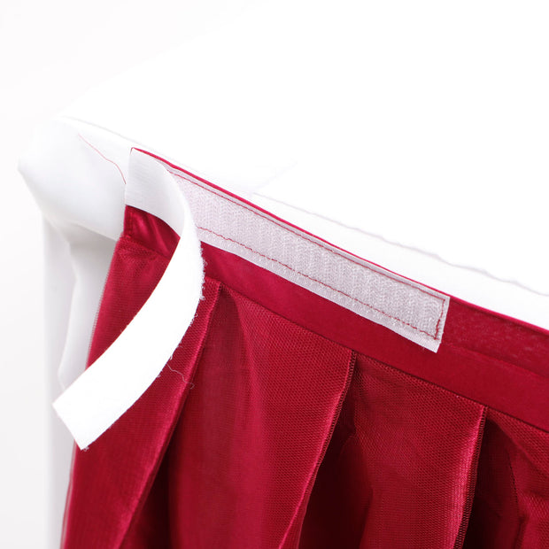 Tulle and Ice Silk Layered Table Skirting - Burgundy (3m)