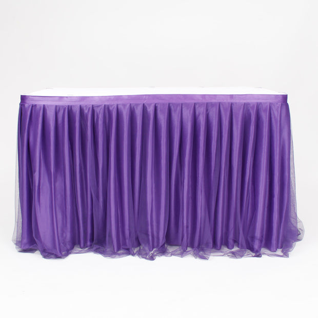 Purple Tulle Table Skirt