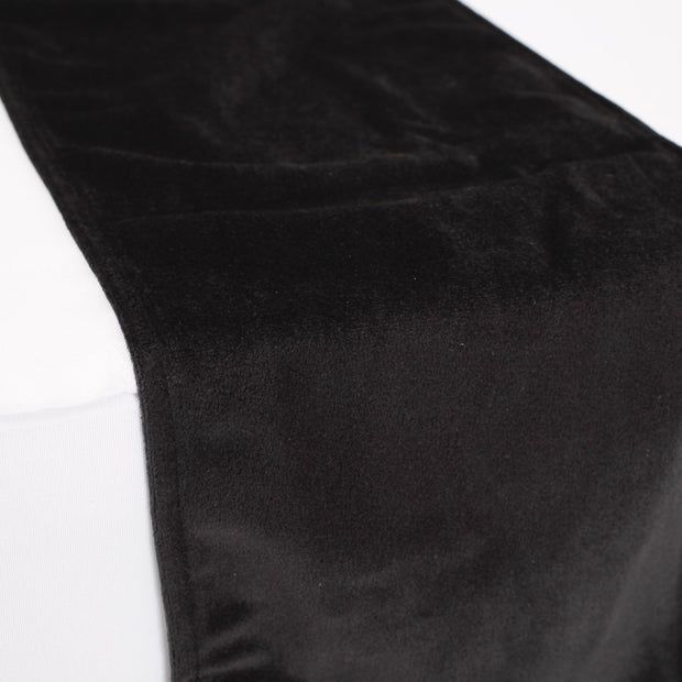 Elegant Black Velvet Table Runner