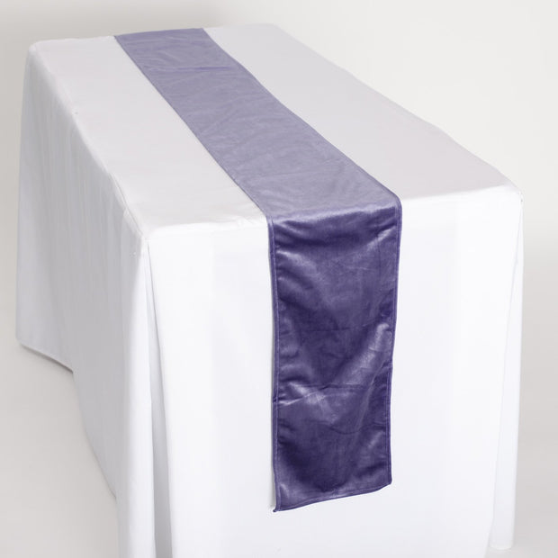 Luxurious Purple Velvet Table Runner