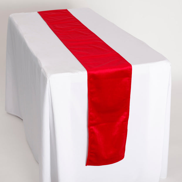 Luxurious Red Velvet Table Runner