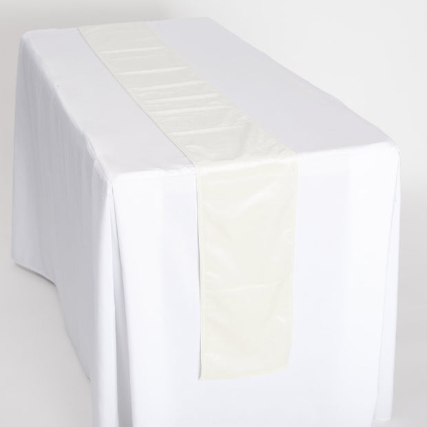Luxurious White Velvet Table Runner Full View