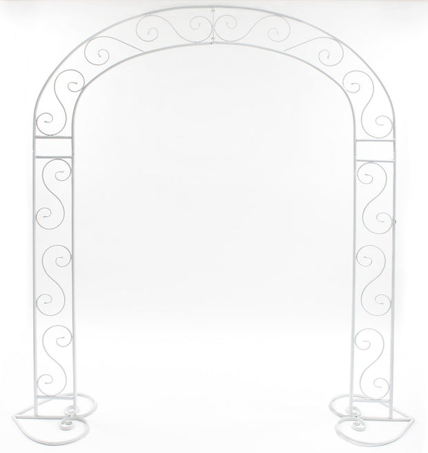 White Wedding Arch - Vintage Scroll Design