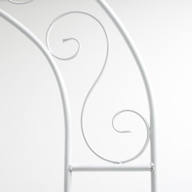White Wedding Arch - Vintage Scroll Design detail 2