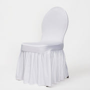 White Princess Lycra Chair Cover Wedding Event Party