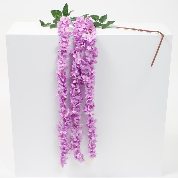 Large Premium Hanging Wisteria Garland - Purple (1.6m)