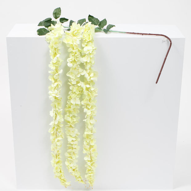 Large Premium Hanging Wisteria Garland - Yellow (1.6m)