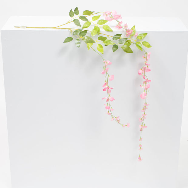 12 x Medium Premium Wisteria Stems - Pink (1.2m)