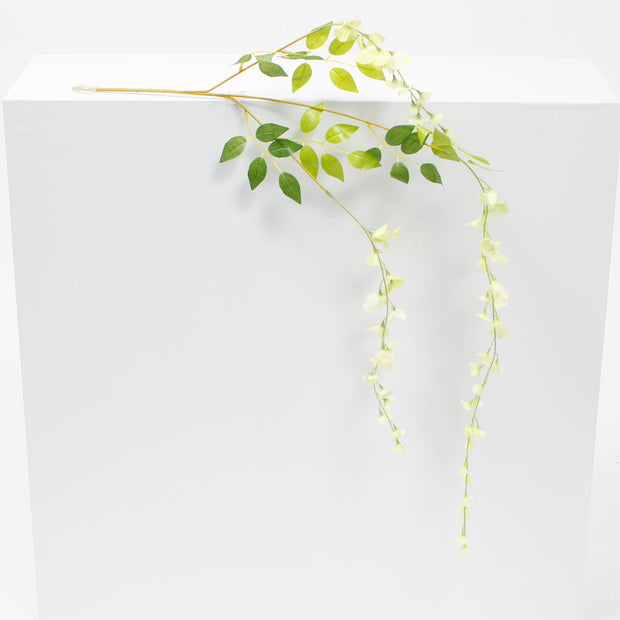 Medium Premium Wisteria Stems - White / Green (1.2m)