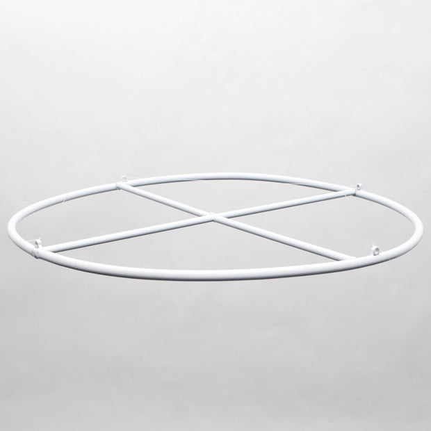 White Ceiling Draping Ring with Centre Cross (ring only)