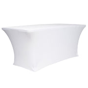 White Lycra Fitted Tablecloth (6ft)