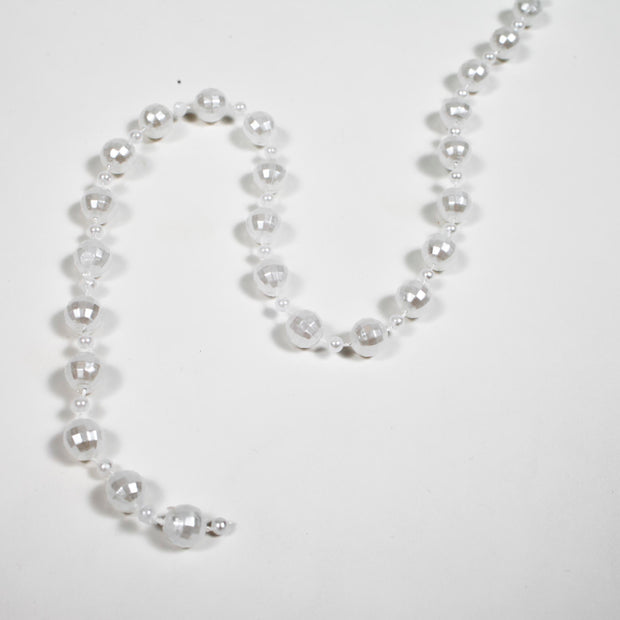 White Mixed Pearl String Beads - 15m Close Up