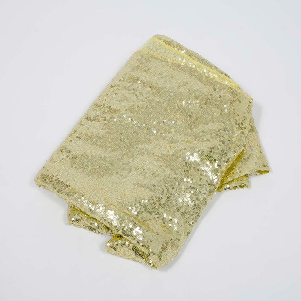 Champagne Gold Sequin Tablecloth 125x240cm Folded