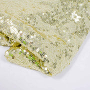 Champagne Gold Sequin Tablecloth 125x240cm Close