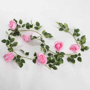 Artificial Pink Rose Vine 9cm Flower