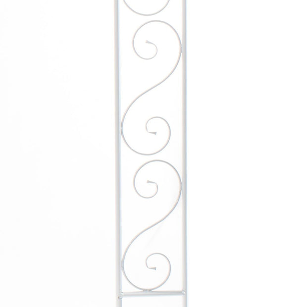 White Wedding Arch - Vintage Scroll Design detail 1