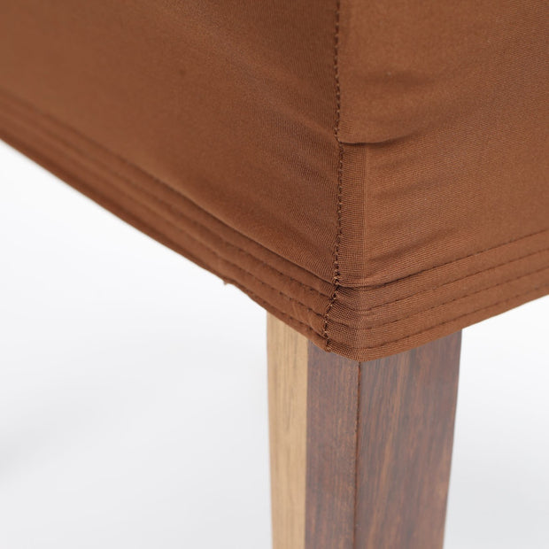 Lycra Chair Covers (Toppers) - Brown Elastic Edging