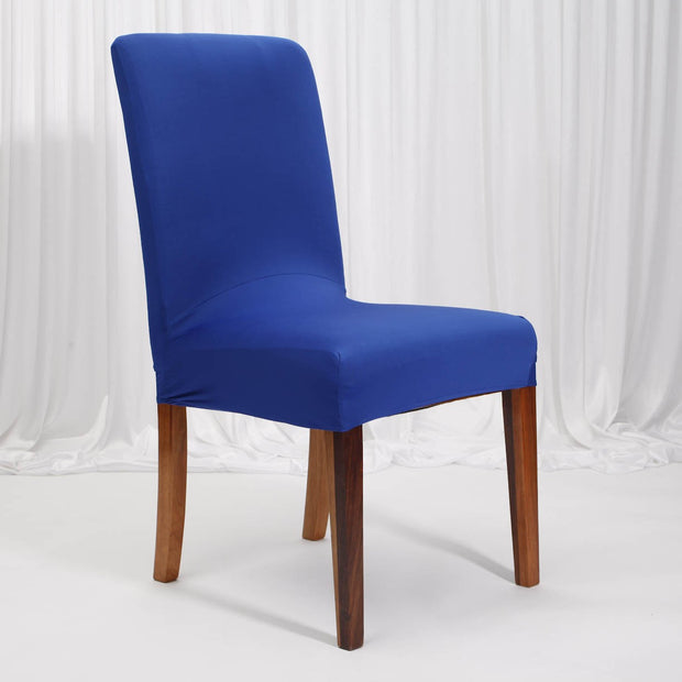 Lycra Chair Covers (Toppers) - Royal Blue On Dining Chair