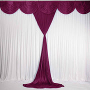 Burgundy Ice Silk Satin Backdrop Convertible Panels 1mx3m