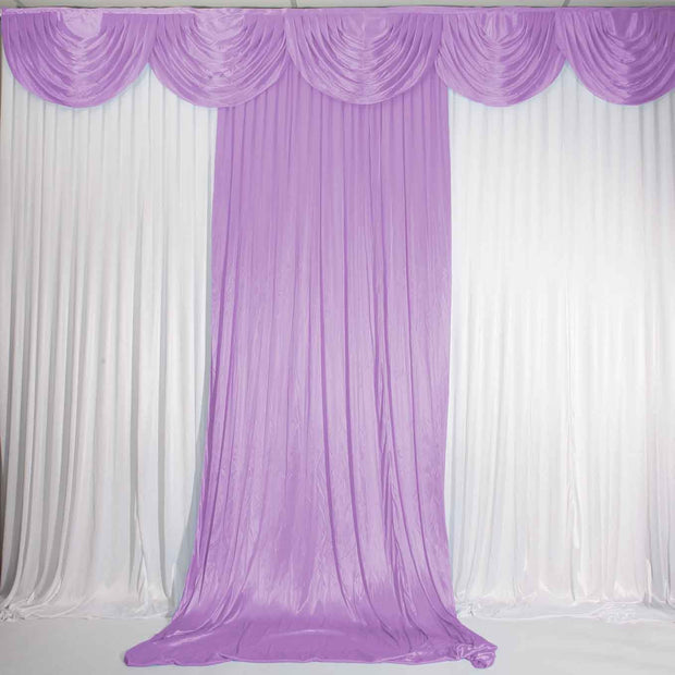 Lavender Ice Silk Satin Backdrop Convertible Panels 1mx3m