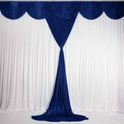 Navy Ice Silk Satin Backdrop Convertible Panels 1mx3m