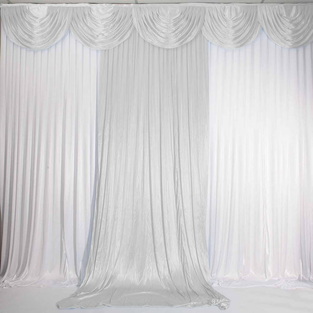 Silver Ice Silk Satin Backdrop Convertible Panels 1mx3m