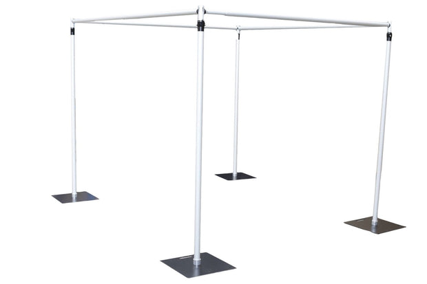 Backdrop Stand Cube Shape using 4 uprights and 4 crossbar Poles