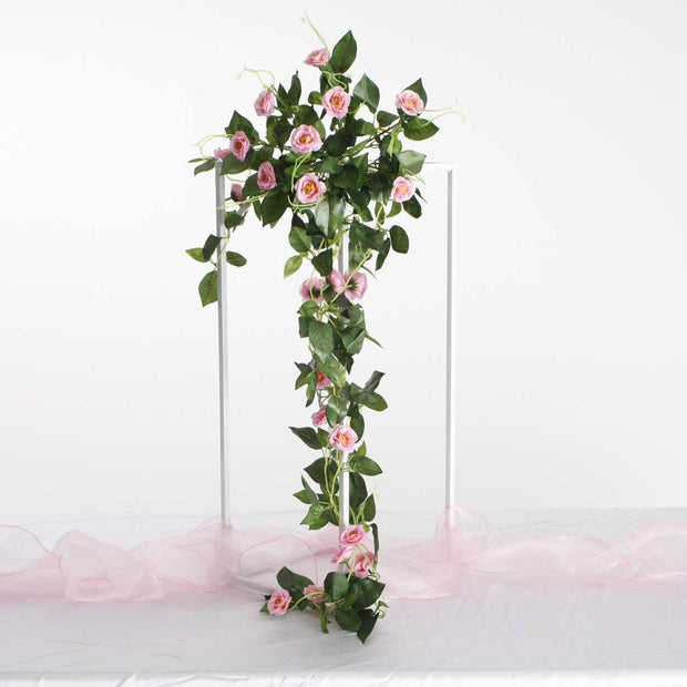 Pink Rose (3cm) Flower Waterfall Bouquet - 1m