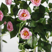 Pink Rose (3cm) Flower Waterfall Bouquet - 1m Flower Close Up