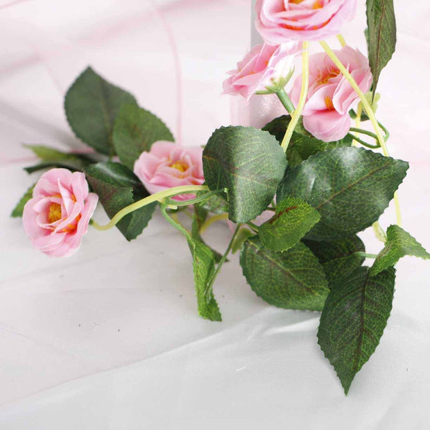 Pink Rose (3cm) Flower Waterfall Bouquet - Flower Close Up 2