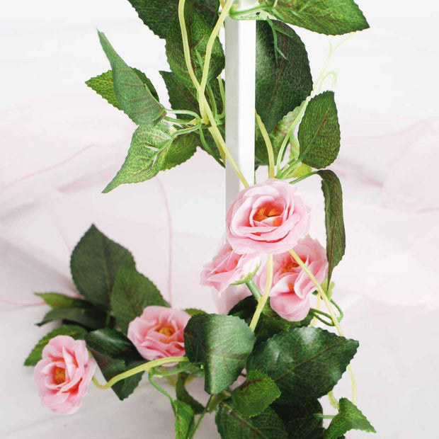 Pink Rose (3cm) Flower Waterfall Bouquet - Vine Close Up