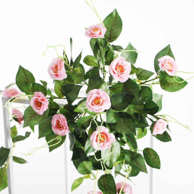 Pink Rose (3cm) Flower Waterfall Bouquet - Flower Bunch