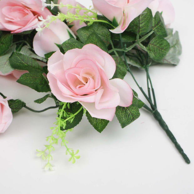 Pink Rose (6cm) Flower Waterfall Bouquet Flower Close Up 1