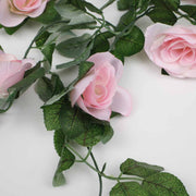 Pink Rose (6cm) Flower Waterfall Bouquet Flower Close Up 2