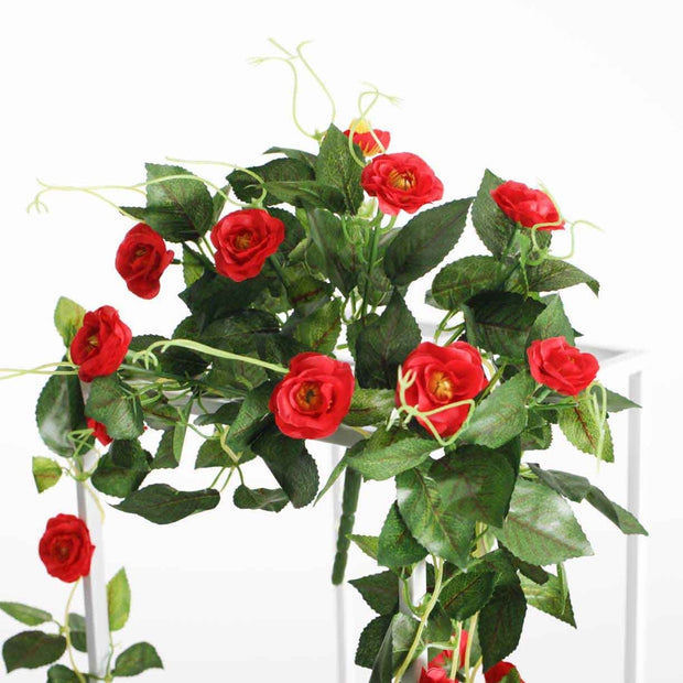 Artificial Red Rose Bouquet 3cm Flower On Flower Stand
