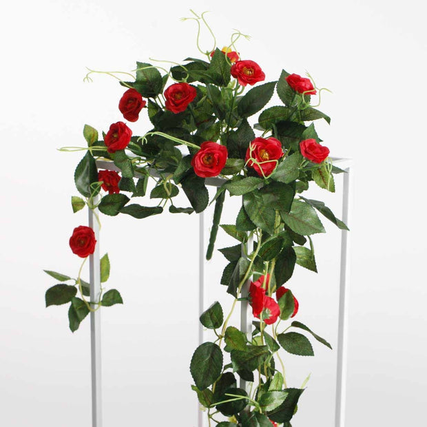 Artificial Red Rose Bouquet 3cm Flower On Flower Stand 2