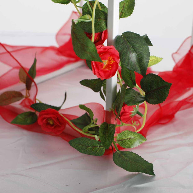 Artificial Red Rose Bouquet 3cm Flower Close Up Of Flower 1