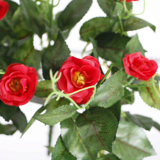 Artificial Red Rose Bouquet 3cm Flower Close Up Of Flower 2