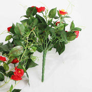 Artificial Red Rose Bouquet 3cm Flower Handle