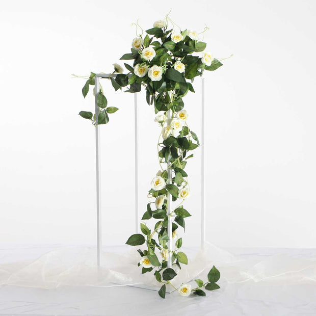 Artificial White Rose Bouquet 3cm Flower