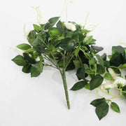 Artificial White Rose Bouquet 3cm Flower Handle
