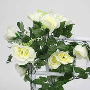 White Rose (6cm) Flower Waterfall Bouquet Flower Close Up 1