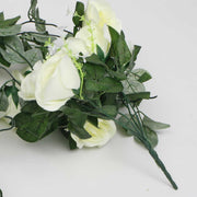 White Rose (6cm) Flower Waterfall Bouquet Handle
