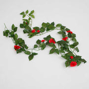 Red Rose (3cm) Artificial Flower Vine - 1.6m