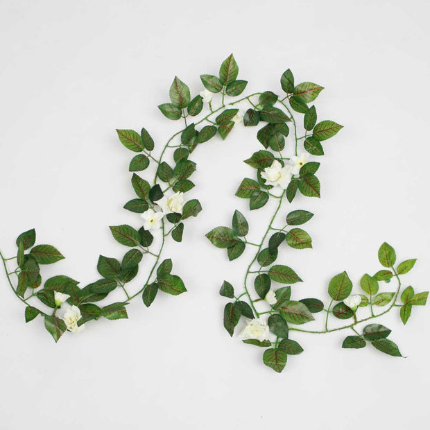 Artificial White Rose Vine